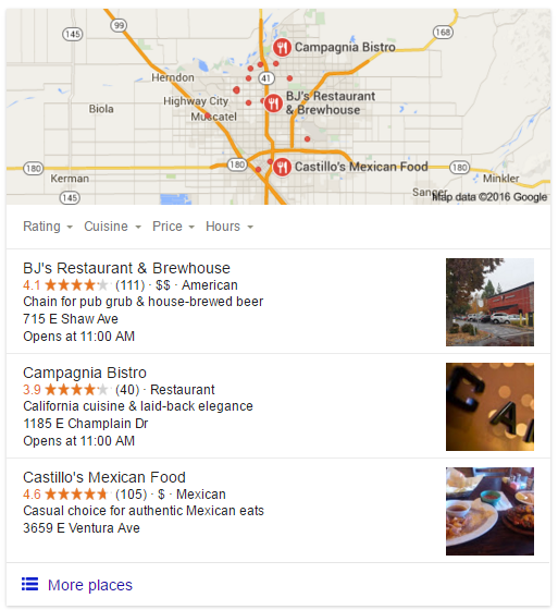 Fresno restaurants