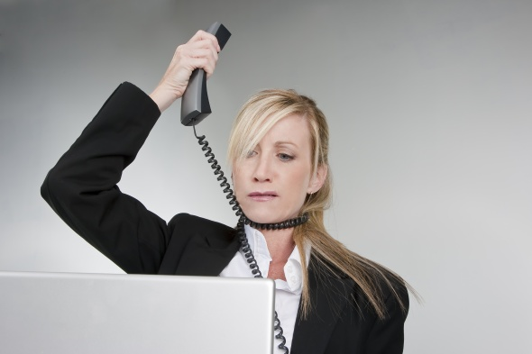 Frustrated Customer Service Agent