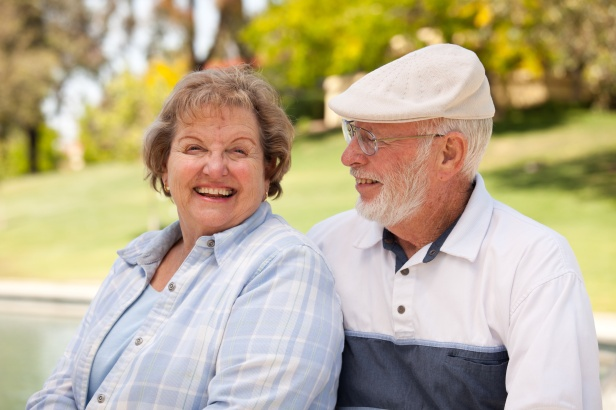 Happy Affectionate Senior Couple Enjoying Each Other in The Park.