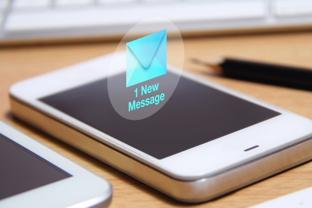 smartphone and new message icon