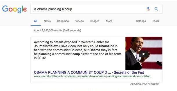 Google obama coup